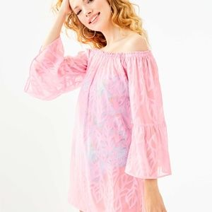 NWT Lily Pulitzer Nevie Off-Shoulder Cover Up